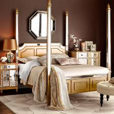 hayworth queen canopy bed gold tan brown rooms pinterest