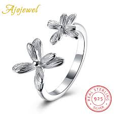 sted rings ajojewel real 925 sterling silver jewelry women