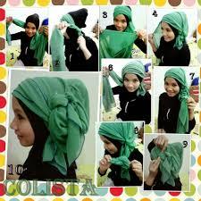 tutorial jilbab segi 4 untuk kebaya tutorial hijab segi empat untuk kebaya cara memakai jilbab segi