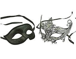 amazon com kayso couple elegant masquerade masks with laser cut
