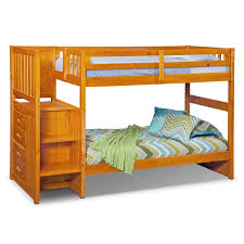 Bunk Bed With Storage Stairs Ranger Bunk Bed With Storage Stairs Pine Value