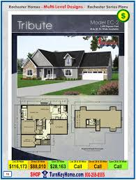 tribute rochester modular home cape cod multi level plan price