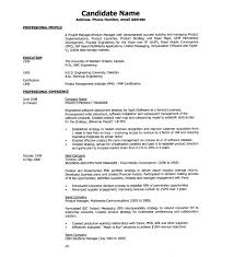Resume Sample Product Manager by Legal Recruiter Sample Resume
