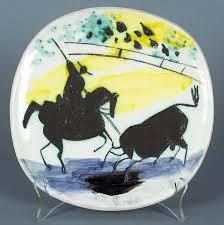 ceramic engraving signed pablo picasso ceramic engraving madoura sculpture picador