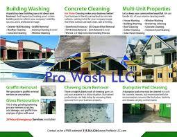Pressure Washing Estimate by Pro Wash Llc