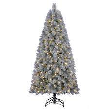 Outdoor Christmas Decorations At Menards by Enchanted Forest 7 U0027 Prelit Led Theodore Fir Artificial Christmas