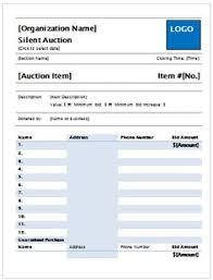 silent auction bid sheet example silent auction bid sheet