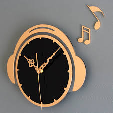 Home Decor Clocks Flying Notes Wall Clock Music Clocks Fashion Creative Time Home