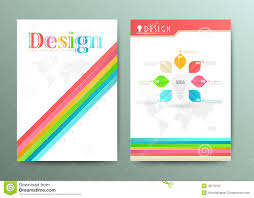 graphic design templates for flyers design abstract vector brochure template flyer layout stock vector