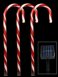 solar led stake lights 5 red led candy cane solar stake light 54cm christmas lights