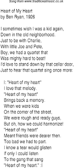 1940s top songs lyrics for of my
