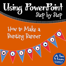 cara membuat x banner dengan publisher how to make a bunting banner in powerpoint a turn to learn
