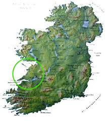 map of county the west of ireland where is county clare the atlantic way
