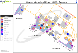 Map Of International Airports Cancún Cancún International Cun Airport Terminal Maps
