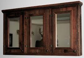 barn wood triple mirror medicine cabinet u2014 barn wood furniture