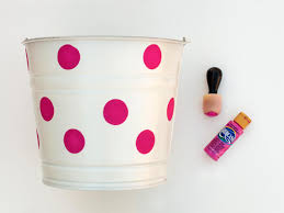 painted easter buckets make a polka dot easter hgtv