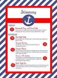 Nautical Themed Music - nautical bachelorette party itinerary custom by townleydesigns