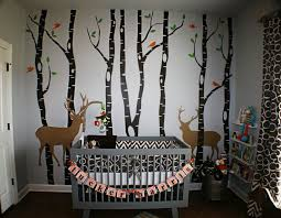 rustic meets baby in this outdoor themed nursery nursery