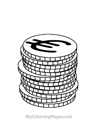 eurocoins coins money free coloring book pages print