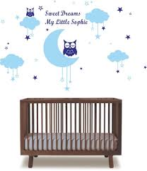 Owl Wall Decals Nursery by Owl And Moon Wall Decal Promotion Shop For Promotional Owl And