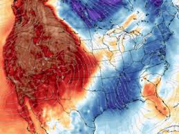 thanksgiving weather near record breaking warmth in west cold in