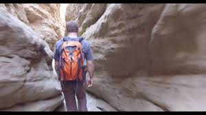 hiking the slot canyon in anza borrego state park shot with dji