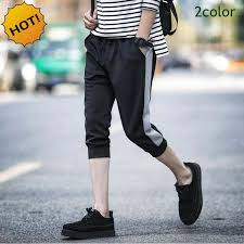 summer style capri hot men 2017 summer style cotton shadow capri pants boys stripe foot