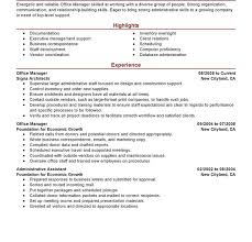 Office Manager Sample Resume Download Sample Resume For Office Manager Position