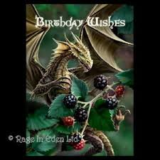 blackberry dragon anne stokes gothic fantasy art birthday greeting