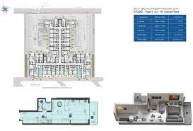 floor plan studio type azizi berton residence al furjan dubai floor plan details