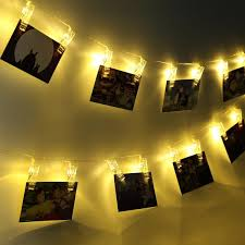 string lights with picture clips light up photo holder clips thefashionbooth
