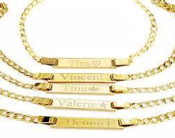 Baby Name Bracelets Gold Baby Bracelet Gold Etsy