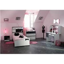 chambre fille complete pretty chambre complète enfant 90x190 blanc noir achat vente