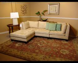 decor and floor furniture small leather sectional couches with cushions on wooden