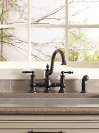 moen kitchen faucets rubbed bronze the intricate charm of moen s waterhill will instantly add