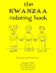 the kwanzaa coloring book steven c thedford rachel mindrup