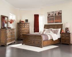 Bedroom Sets With Drawers Under Bed Bedroom Surprising Winsome Dark Brown Rustic Bedroom Sets With