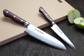 Damascus Kitchen Knives For Sale by Yoshihiro Vg 10 16 Layer Hammered Damascus Stainless Steel Santoku