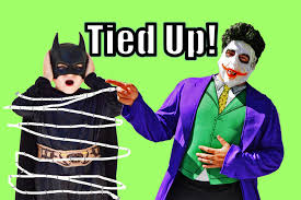 joker captures batman in real life superhero funny kids video with