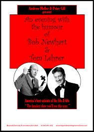 an evening with the humour of bob newhart u0026 tom lehrer theatre show