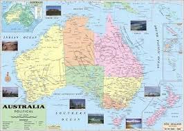 map of australia political australia political map at rs 120 rajnitik rajya nakshe