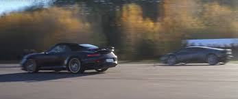 vs porsche 911 turbo lamborghini huracan vs porsche 911 turbo s cabrio drag race is