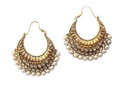 earing image buy ethnic pearl polki earring by adiva ansatocoo46 tds1 online