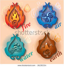 four signs earth water air stock vector 161301314