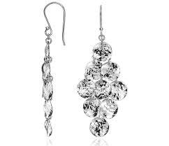Peridot Chandelier Earrings Hammered Chandelier Earrings In Sterling Silver Blue Nile