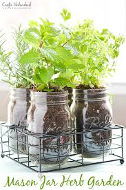 herb gardens diy herb garden in mason jars crafts unleashed