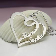 personalized heart pendant s name necklace personalized heart pendant necklace