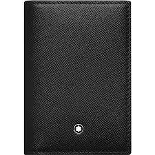 Black Business Card Holder Montblanc Sartorial Black Leather Business Card Holder With Gusset