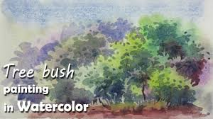 how to paint tree bushes in watercolor episode 3 youtube