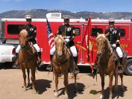 mustang marine adopt a mustang marine corps color guard equines